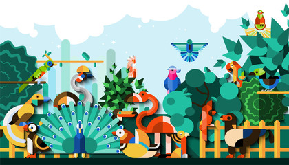 Exotic Birds Background