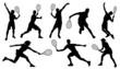 tennis silhouettes - 79545410