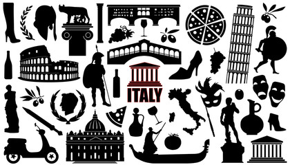 italy silhouettes