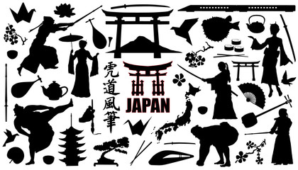 japan silhouettes