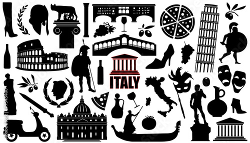 italy silhouettes - 79545400
