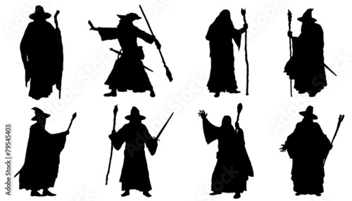 mage silhouettes - 79545403