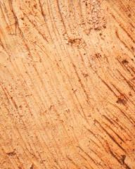 Sawed wood surface