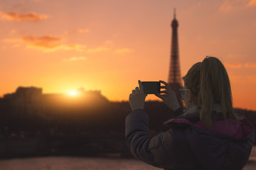 Chasing the Paris sunset with a view to Eiffel tower.