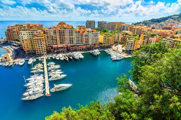 Luxury harbor and colorful buildings,Monte Carlo,Monaco,Europe