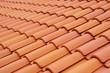 Leinwandbild Motiv New roof with ceramic tiles