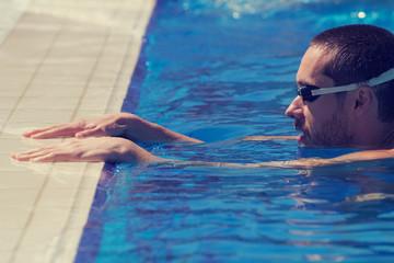 Swimmer preparing for training.