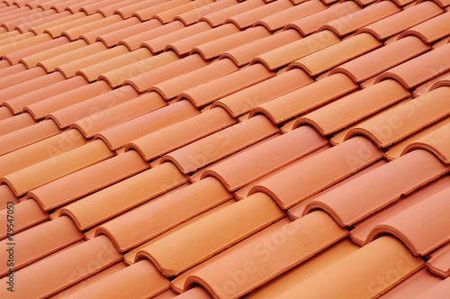 Papiers peints Pierre, Sable New roof with ceramic tiles