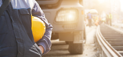 Construction worker ready for job.
