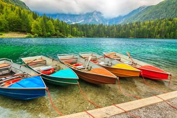 Stunning alpine landscape,Lake Fusine,Italy,Europe