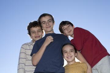 Niños en contraluz
