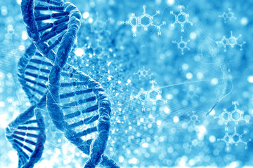 DNA molecules on the natural background