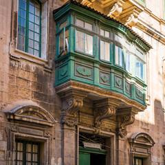 Bow window à La Valette, Malte