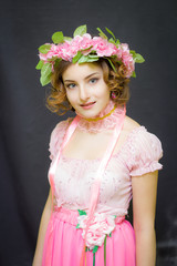 Young woman. Image of spring.