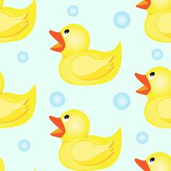 Rubber duck seamless pattern
