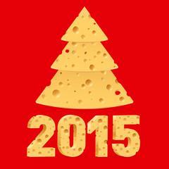 Cheese New Year symbols.