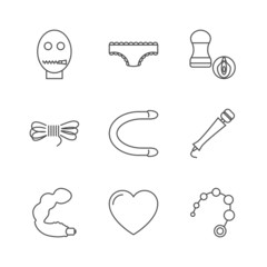 Sex shop icons