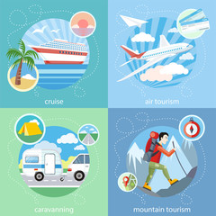 Mountain, cruise, air tourism