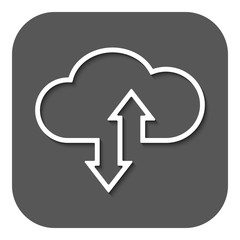 The download and upload to cloud icon