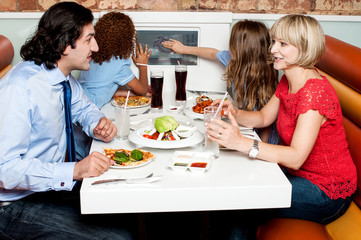 It's  my family time at restaurant