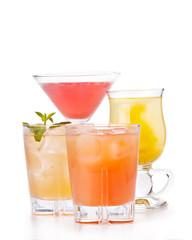 Alcoholic cocktails composition.