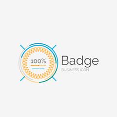 Thin line neat design logo, premium quality stamp