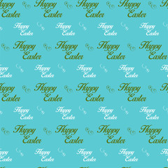 Happy Easter Letter Blue Seamless Background