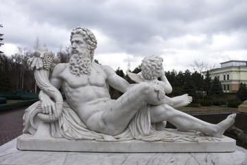 Sculpture of Zeus in the sky