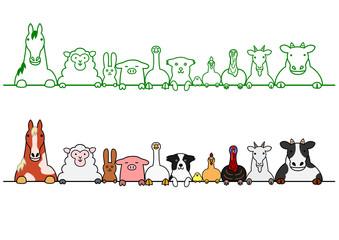家畜 一列 コピースペース セット