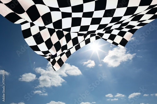 Fototapeta Composite image of checkered flag