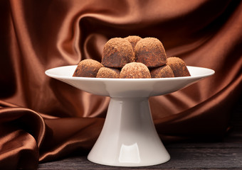 chocolate candy truffles