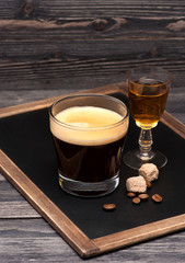 espresso  and cognac