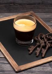 Espresso on chalkboard