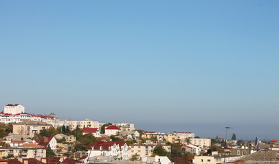 Panorama of the old town rooftops