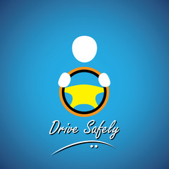 car driver icon or symbol - safe driving concept vector