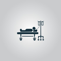 Illustration of Life icons, hospitalized