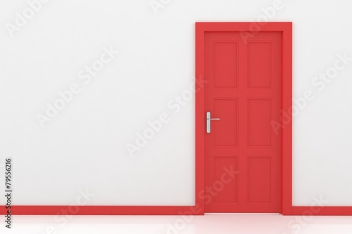 Wall rendering of a door