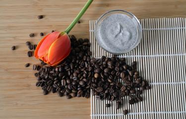 homemade coffee scrub in a bowl