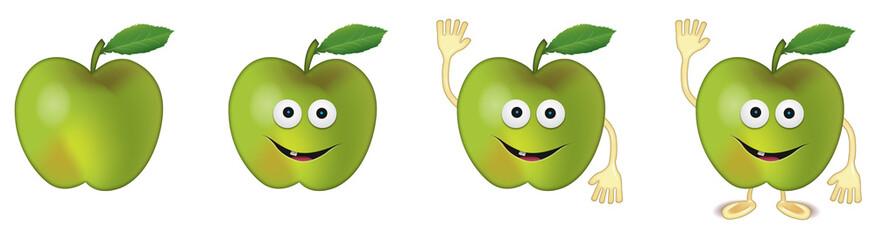 Pomme 03 avec dents