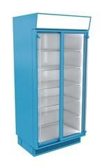 Shopping refrigerator showcase