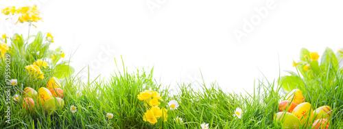 Ostern - Wiese - Freisteller - Ostereier