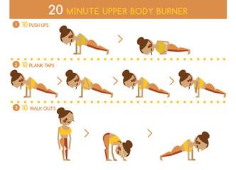 Twenty minute upper body burner