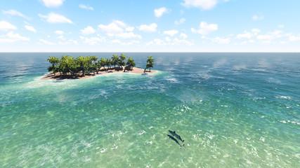 Island in the ocean. 2