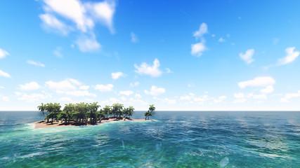 Island in the ocean. 1