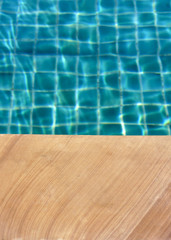 The swimming pool table background