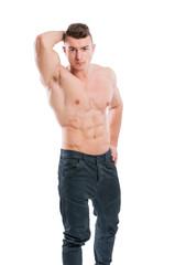 Shirtless male posing