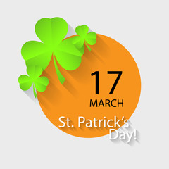 Typographic Saint Patrick's Day Retro Background