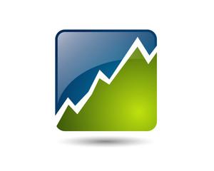 rising graph mountain