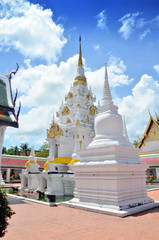 Wat Phra Borommathat Chaiya Temple at Surat Thani in Thailand