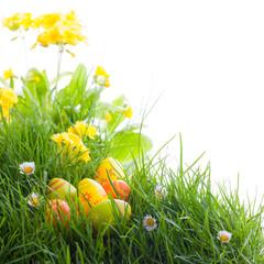 Ostern - Blumenwiese - Ostereier im Versteck
